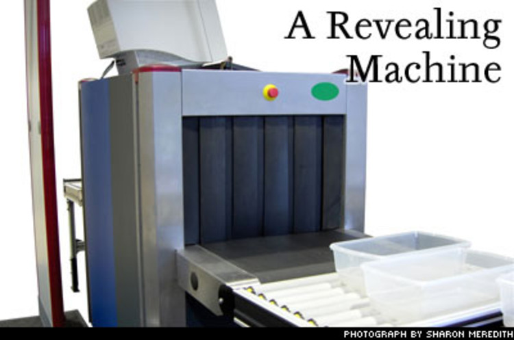 <p>Reveal Imaging is developing a baggage-screening machine that would be small enough -- and easy enough to use -- to be positioned at the check-in counter. So rather than building a separate facility for baggage screening or forcing passengers to schlep their bags to a different part of the terminal, airlines can have check-in agents send the bags through themselves. Besides being smaller, the machine gives fewer false alarms. The company won a grant from the Transportation Security Agency and is working on its first few prototype machines now.</p>