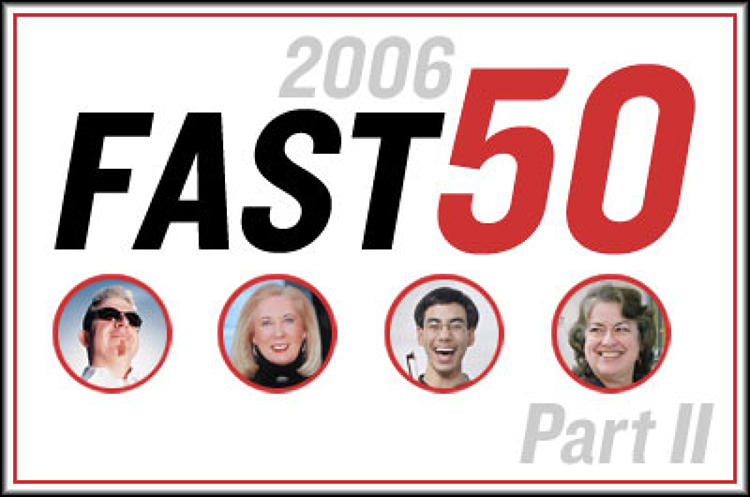<p>A decade ago, this magazine began chronicling a new era in business. To celebrate our anniversary, we're looking out to the next one. In this slideshow (and <a href=&quot;http://www.fastcompany.com/slideshow/slideviewer.cgi?list=fast50-part1&refresh=8&quot;>Part I</a>) meet the people, technology, ideas, and trends that will shape how we work and live over the 10 years ahead.</p>