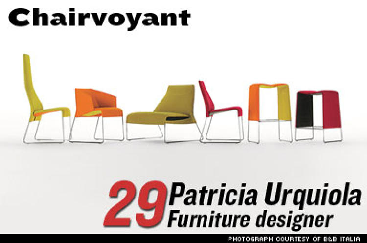 <p>The Spanish-born Urquiola was the buzz of the Milan Furniture Fair in 2004. She was invited (with designer Hella Jongerius) to create the &quot;Ideal House of the Future&quot; at the Cologne Furniture Fair in 2005. Urquiola's work, which is actually stylish <em>and</em> functional, is carried by such swanky stores as De Padova, Moroso, and B&B Italia. </p> <p><em>Photo: Lazy collection by Patricia Urquiola for B&B Italia.</em></p>