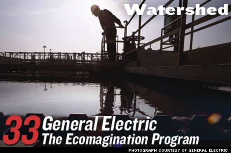 <p>The world's water supply will continue to dry up in the next decade. General Electric dropped $1.1 billion to buy Ionics, a desalination and water-recycling company, and made it the core of its &quot;Ecomagination&quot; program. In 2005, the water division earned $2 billion, a figure expected to hit $10 billion by 2016.</p>