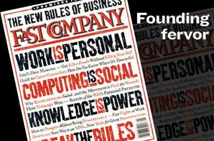 <p><a href=&quot;http://www.fastcompany.com/magazine/01/edpage.html&quot; target=&quot;_blank&quot;>Handbook of the Business Revolution: A Manifesto</a><br /> A letter from the founding editors.</p>  <p><a href=&quot;http://www.fastcompany.com/magazine/90/open_looking-back.html&quot; target=&quot;_blank&quot;>Start the Revolution (Again!)</a><br /> It has been nearly 10 years since we at Fast Company slapped an in-your-face manifesto on the cover of our premier issue. It proclaimed, &quot;The new rules of business: Work is personal. Computing is social. Knowledge is power.&quot; And one more: &quot;Break the rules.&quot; The question: Was it right?</p>  <p><a href=&quot;http://www.fastcompany.com/magazine/01/&quot; target=&quot;_blank&quot;>November 1995 issue</a></p>
