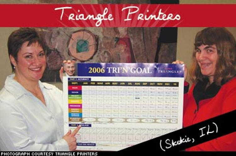 <p>This custom printer shows appreciation for its employees through its Tri'N'Goal game. The game motivates employees to work as a team, reduce errors, and increase sales. Employees of the 50-year-old company are also awarded financially and with special luncheons. It prides itself in the old-fashioned values it brings to modern printing techniques.</p>