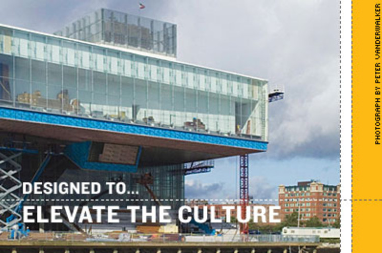 <p><strong>Diller Scofidio + Renfro's</strong> first U.S. building, the 65,000-square-foot Institute of Contemporary Art, is slated to open this fall on Boston Harbor. A 325-seat theater, looking onto the waterfront, will anchor the cantilevered glass structure, the first art museum to be built there in 100 years.</p>