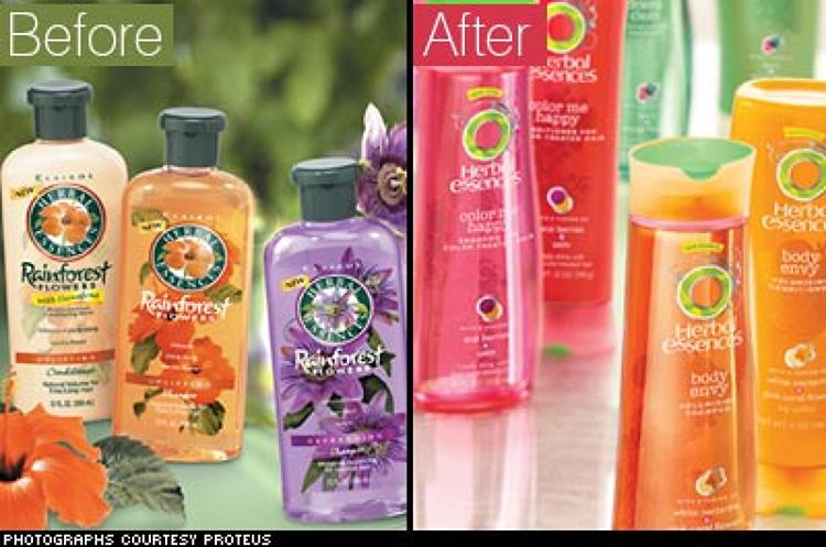 <p> <strong>The Brand:</strong> Herbal Essences  </p> <p> <strong>The Aim:</strong> P&amp;G's global Herbal Essences brand employed LPK to help make its mark in the hair-care market and differentiate itself on the shelf.  </p> <p> <strong>The Strategy:</strong> The firm came up with a design from scratch that featured attention-grabbing, uncomplicated, color-coded packaging. The 2006 rebrand launch was extremely successful: three of the top five customers increased Herbal distribution by over 25% and four times as many displays were shipped versus any past launches. In the first three months, Herbal Essences experienced a 6% increase in overall volume share.  </p> <p> *Information courtesy of Rebrand.  </p>