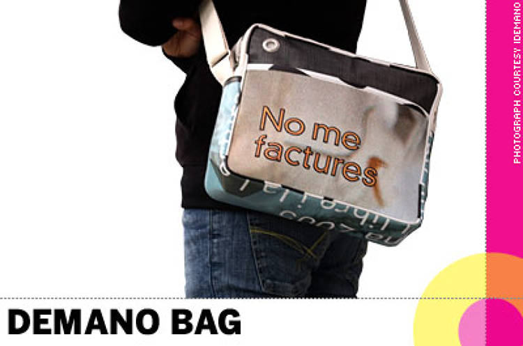 <p> &quot;<strong>Demano Bag</strong>, the Barcelona bag company, makes fashion bags out of old city event banners (normally unrecyclable) that hang over the streets between street lamps. Because it is made out of scaffolding material, the bags are waterproof and very durable.&quot; -- Toshiko Mori, architect, chair of the Department of Architecture at Harvard University Graduate School of Design </p>