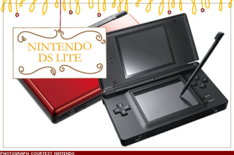 <p>With dual 3-inch LCD screens, a touch-screen interface, and a Wi-Fi connection that allows you to compete real-time with gamers worldwide, Nintendo's newest handheld is a supreme time sucker. $130; <a href=&quot;http://www.nintendo.com/ds&quot; target=&quot;_blank&quot;>nintendo.com/ds</a></p>