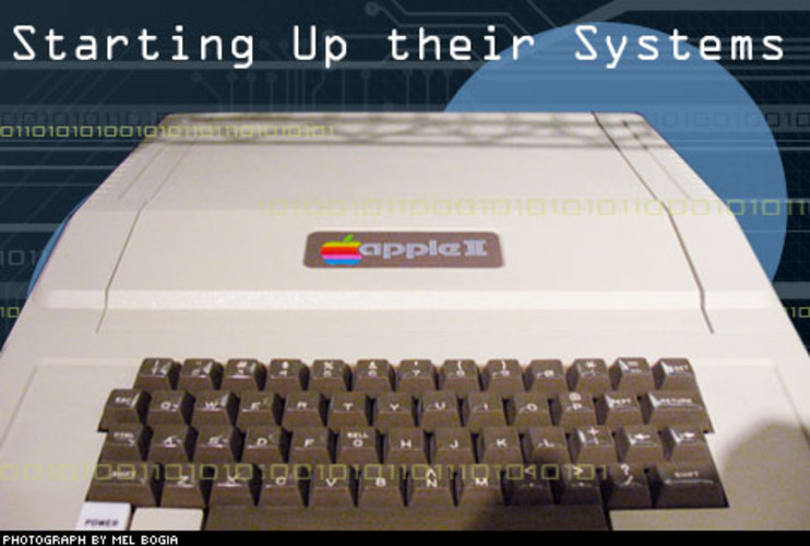 <p> Apple Computer, Inc was incorporated in early 1977, and within a few months the two-man company, consisting of Wozniak and his partner, Steve Jobs, released a second machine, the Apple II. The company's early strength was in software: with an open architecture platform, the Apple II won popularity among business customers for running the first office spreadsheet program, called VisiCalc. The Apple II also sported a color screen and hard disk drives, as opposed to the then-popular tape drives and grayscale displays. Yet even as the first platform with a useful office app, Apple was still the third-place computer maker, trailing Tandy and Commodore.  </p>