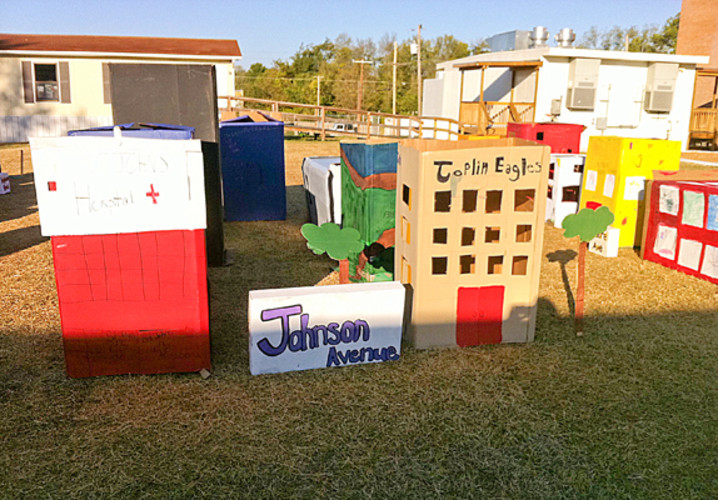 "The students recreated St. John's Hospital, Joplin High School a.ka ""Hope High,"" and a restored Cunningham Park."