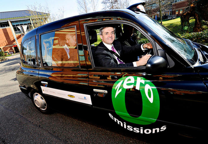 A fleet should be ready by the London Olympics in 2012. </br></br> <a href=&quot;http://www.fastcoexist.com/1677856/londons-black-cabs-go-green&quot;>Read more here</a>