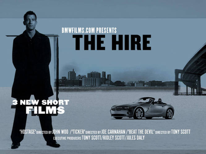 """BMW started it all,"" CP+B exec Rob Reilly has said of 2001's The Hire, a much talked-about series of short promotional films starring Clive Owen, and featuring cameos from Madonna and Mickey Rourke. The four-month project lured 11 million viewers, and helped BMW's annual sales increase 12.5%, to more than 200,000 autos."