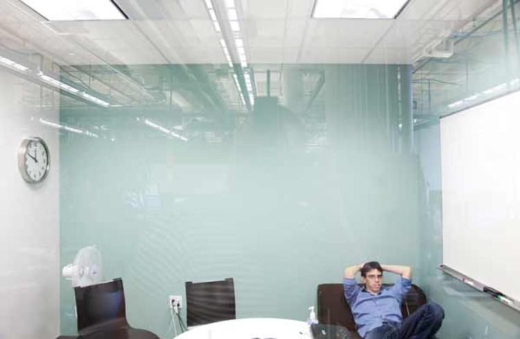 Quiet meeting rooms line the perimeter of the floors, where staffers hold meetings, use the phone, think, or prepare their next hackathon strategy.