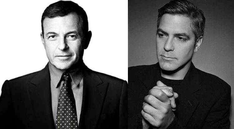Once instrumental in persuading ABC to support David Lynch's <em>Twin Peaks</em>, then president of ABC--Bob Iger is now Chairman and CEO of the Walt Disney Company. </p><p>Iger's also now on Apple's board, partly because of his business skills but also because he's credited with turning Disney around--part of which hinged on bringing Steve Jobs' Pixar digital animation company aboard.</p><p>A smart-cookie businessman, difficult, not afraid of rocking the boat and unquestionably interesting ... perfect alignment with George Clooney, we think. </p><p><em>Images via <a href=&quot;http://www.iphone5gfeatures.com/new-apple-member-bob-iger-buys-1m-of-company-shares/&quot;>iPhone5G</a>, <a href=&quot;http://www.popstarsplus.com/actors_georgeclooney.htm&quot;>PopStarsPlus</a> </em>