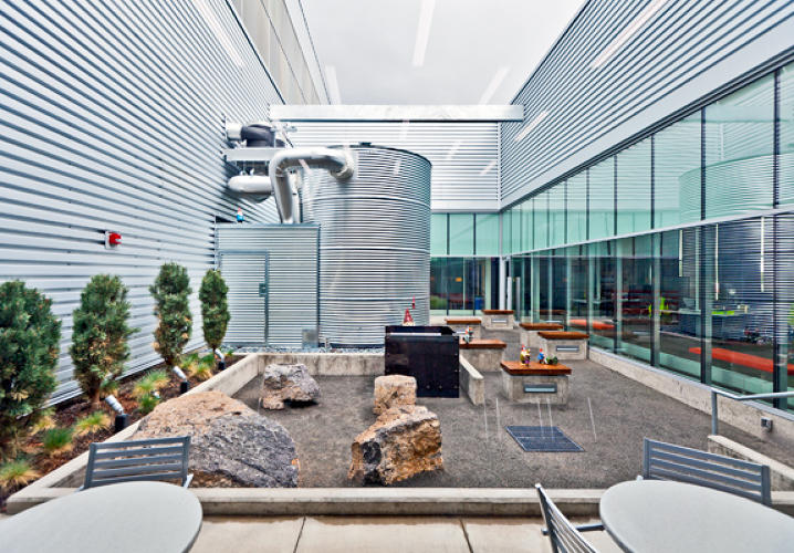 The LEED Gold-certified facility also has 23,000 square feet of office space surrounding an interior courtyard.