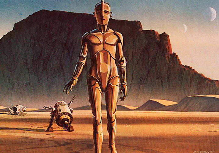 In a long-forgotten <em>Star Wars</em> special on VH1, the actor who played C-3PO, British-born Anthony Daniels, once explained how reluctant he was to be in Lucas' movie, until he saw this concept sketch. Asking if it was of the character he'd just badly auditioned for, he got closer. &quot;And he was looking straight out at the, at the viewer, and he looked straight into my eyes, and his eyes went straight down into my soul, and it was the most extraordinary feeling, sensation. Uh, I was sort of taken over.&quot;