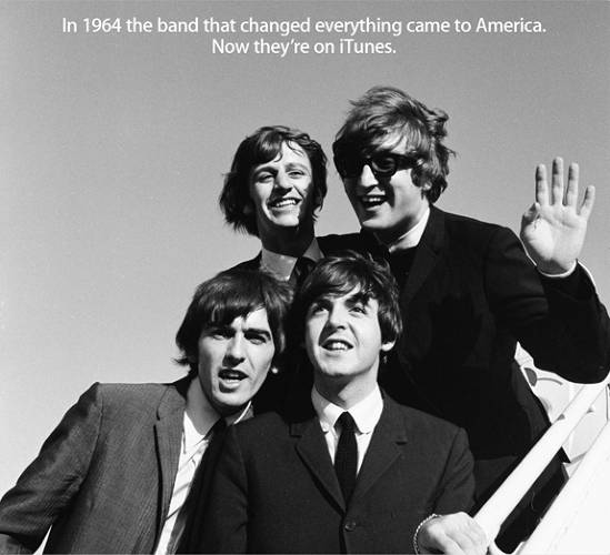 <p>On May 14, 1968, Paul McCartney and John Lennon went on <em>The Tonight Show</em> to announce the formation of their new company. &quot;We've got this thing called Apple,&quot; said Lennon, &quot;which is going to be records, films, and electronics.&quot;</p>  <p>The same quotation could have been made by Steve Jobs decades ago of his own company of the same name, if he foresaw even then moving beyond personal computing and into the realm of media distribution, epitomized by iTunes.</p><p>  As you know by now, the two Apples have finally joined forces. After years of waiting, The Beatles come to iTunes today. Available for download are a box set that collects 256 songs, video of their first US concert, and a mini-documentary for $149 dollars. Individual tracks are available for $1.29, and individual albums for between $12.99 and $19.99 (for double albums).</p><p>  The Beatles may be late adopters in the iTunes revolution, but throughout their careers, they were early adopters of unusual instruments, new techniques, and technologies as Lennon's intriguing mention of &quot;electronics&quot; on <em>The Tonight Show</em> suggested. Despite their delayed foray into the digital age, The Beatles were the most innovative rock band of all time, as this slideshow illustrates, and long after the group's demise, they inspired others to sample and experiment with the Fab Four's work, with or without their permission.</p>