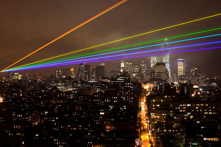 <p><a href=&quot;http://www.fastcoexist.com/1680979/a-35-mile-laser-rainbow-illuminates-new-york-as-a-memorial-to-sandys-victims#1&quot; target=&quot;_self&quot;>The laser-beamed art project</a> by artist Yvette Mattern is powerful enough to cross from Manhattan to the storm-devastated neighborhoods of Brooklyn and Queens, providing a little hope to still-recovering communities that calm is on the way.</p>