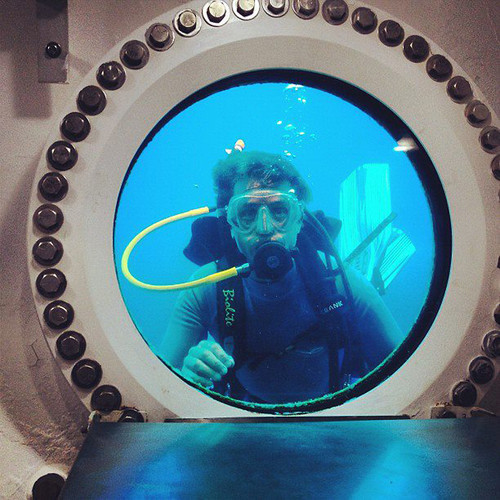 <p><a href=&quot;http://www.fastcoexist.com/1680364/the-last-chance-to-save-the-aquarius-reef-base#3&quot; target=&quot;_self&quot;>Fabien Cousteau paid a visit to Sylvia Earle and the underwater base</a> in danger of losing its funding, and says that the work they're doing there must be allowed to continue.</p>