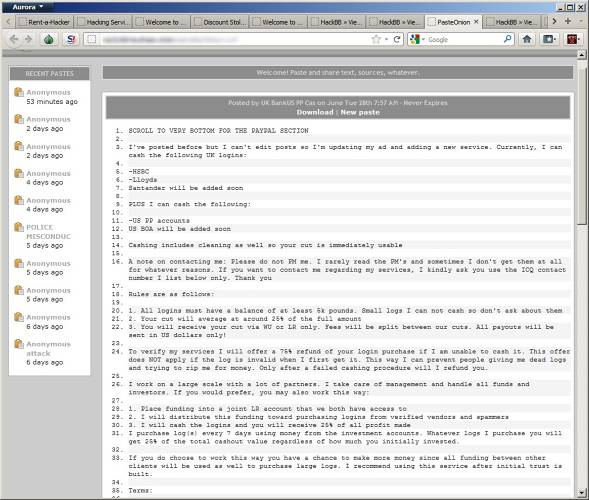 <p>A forum and bulletin board service for criminal hackers found on the underweb.</p>