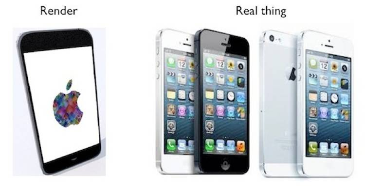 <p>So many bits of information leaked out about the iPhone 5 before its release that it was possible to create a 3-D artist's impression...that proved very accurate.</p>