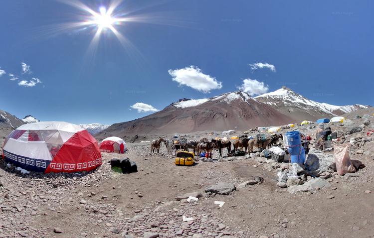 <p>Not Burning Man for donkeys and criollo ponies, you understand, but one of the stop-off points on the way to the top of the this Andean peak.</p>