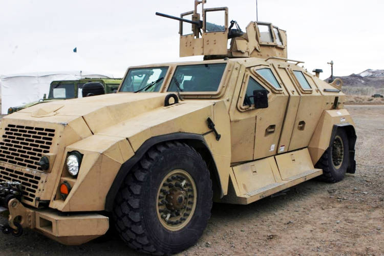<p>The Office of Naval Research Combat Tactical Vehicle (Technology Demonstrator) outfitted with armor designed and manufactured by Plasan.</p>