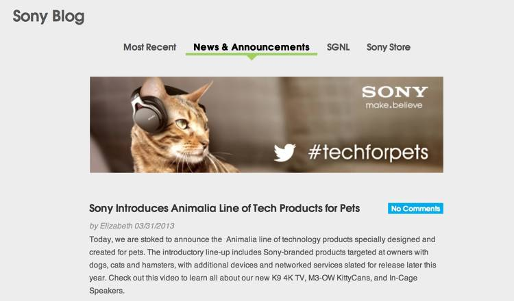 <p>Sony's Animalia line...magical. We too snickered at the sight of a cat in headphones.</p>