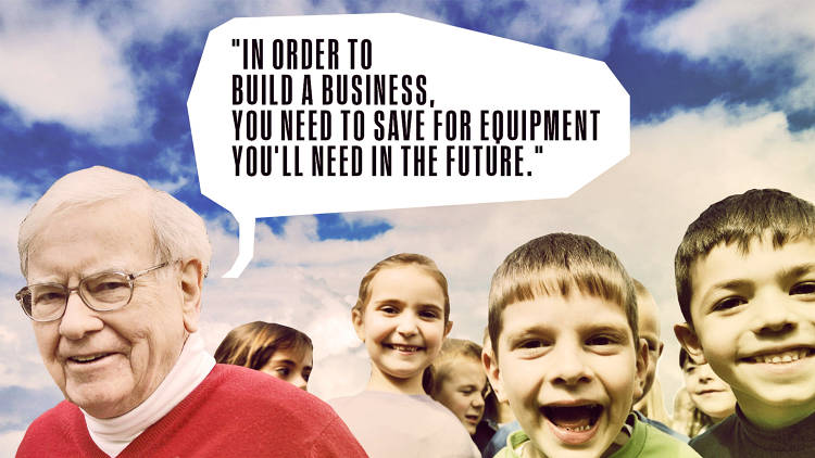 <p>&quot;In order to build a business, you need to save for equipment you'll need in the future.&quot;</p>
