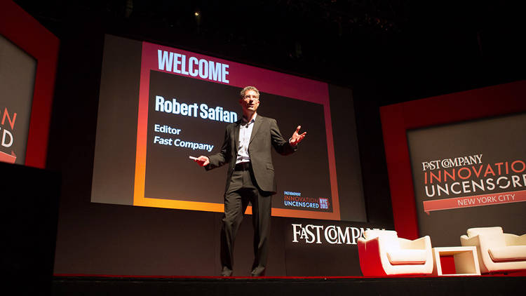 <p><em>Fast Company</em> Editor-in-Chief Robert Safian kicked things off.</p>