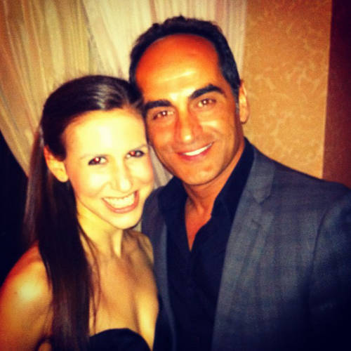 <p>Homeland's Abu Nazir, as played by Navid Negahban, poses for the camera with Schweitzer.</p>  <p>All photos from <a href=&quot;http://instagram.com/cschweitz/&quot; target=&quot;_blank&quot;>Callie Schweitzer's Instagram account</a>.</p>
