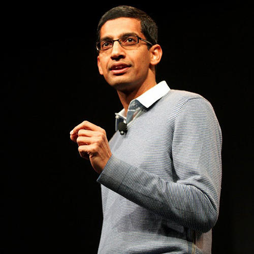 <p>Sundar Pichai, Senior Vice President for Android, Chrome, Google Apps, is in charge of three major products at Google now, including the world's most populous smartphone operating system.</p>