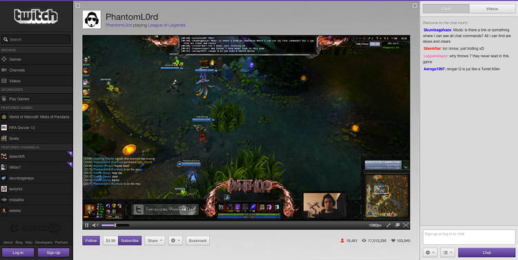 <p>Live play of League Of Legends</p>