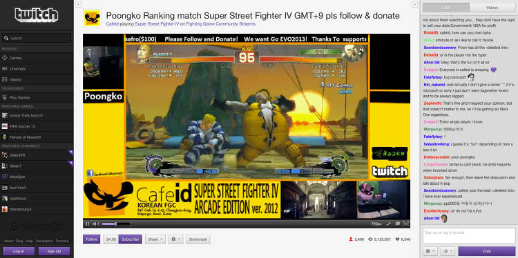 <p>Live play of Street Fighter IV - Arcade</p>