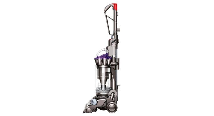 <p>Tall, innovative, and capable of swirling air through clever filters. This is not an Apple product. It's Dyson's DC33 Animal upright cleaner.</p>