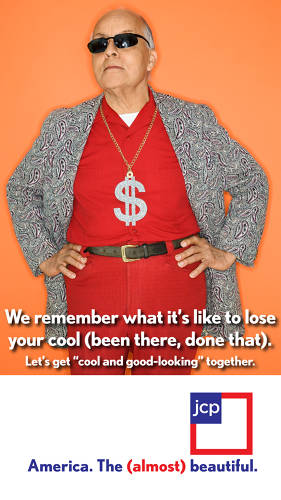 <p>Another featuring the aging boomer who is nostalgic about once being cool. Kind of like Penney itself. This idea forges a bond between customer and retailer.</p>