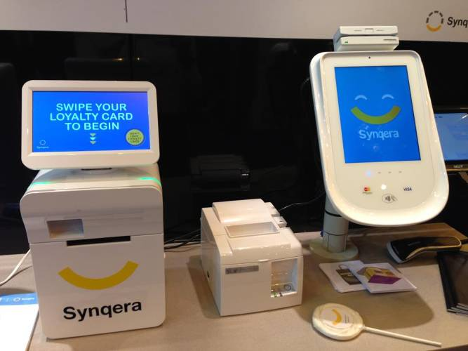 <p>Small camera sensors in Syneqra's terminals interact with machine vision algorithms to analyze customers' emotions at the checkout counter.</p>