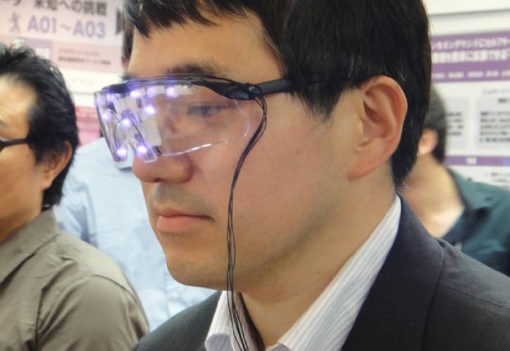 <p>Japan's Google Glass-defeating eyeglasses, which produce bright visible and IR light patterns to defeat face recognition algorithms.</p>