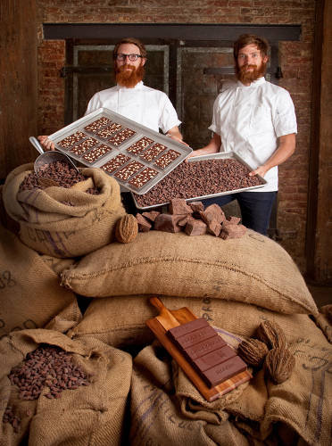 <p>The Mast Brothers, discussed in the text below, <a href=&quot;http://mastbrothers.com/about&quot; target=&quot;_blank&quot;>make chocolate</a> in their Williamsburg location.</p>