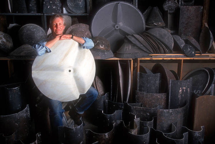 <p>Charles Flickinger runs <a href=&quot;http://flickingerglassworks.com/&quot; target=&quot;_blank&quot;>Flickinger Glassworks</a> in the Red Hook neighborhood of Brooklyn. They've been making custom glass products since 1985, says Duchaine.</p>
