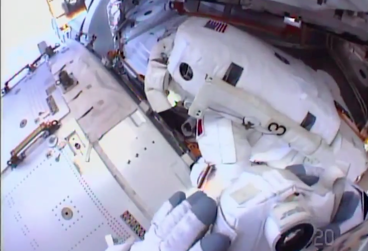 <p>He and fellow spacewalker Chris Cassidy were installing some Z-1 jumper cables, a job they'd begun last week.</p>