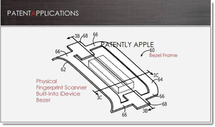 <p>Apple's fingerprint sensor is said to be lower profile than is typical and may thus fit into the bezel of the phone.</p>