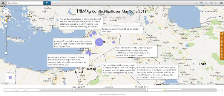 <p>Mapping spillover from the Syrian Civil War.</p>