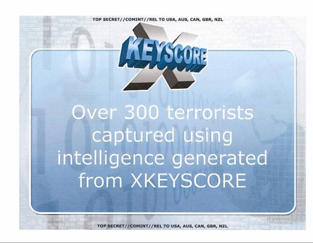 <p>As of 2008, XKeyscore resulted in the capture of hundreds of suspected terrorists worldwide.</p>