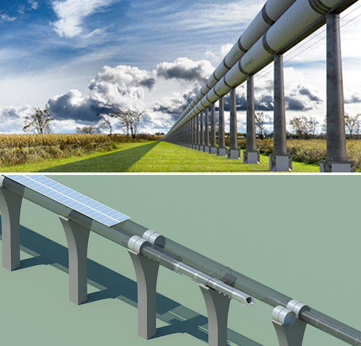 <p>Renderings for the ETT are on the top, the Hyperloop is on the bottom.</p>