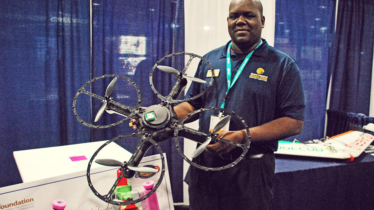 <p>Embry-Riddle University's Velcro drone is great for landing on... Velcro.</p>