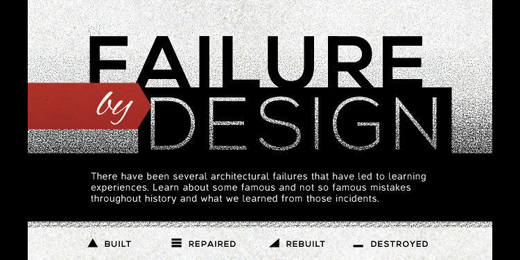 <p>Is it just me, or are an inordinate number of <a href=&quot;http://www.fastcodesign.com/1673080/infographic-8-of-historys-biggest-design-failures#1&quot; target=&quot;_self&quot;>historic structural failures</a> from the U.S.?</p>