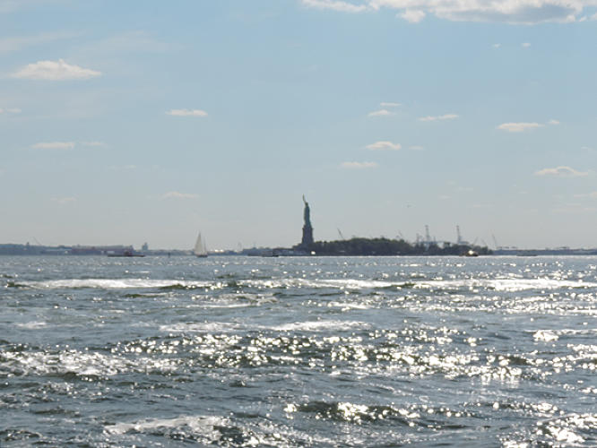 <p>The Statue of Liberty.</p>