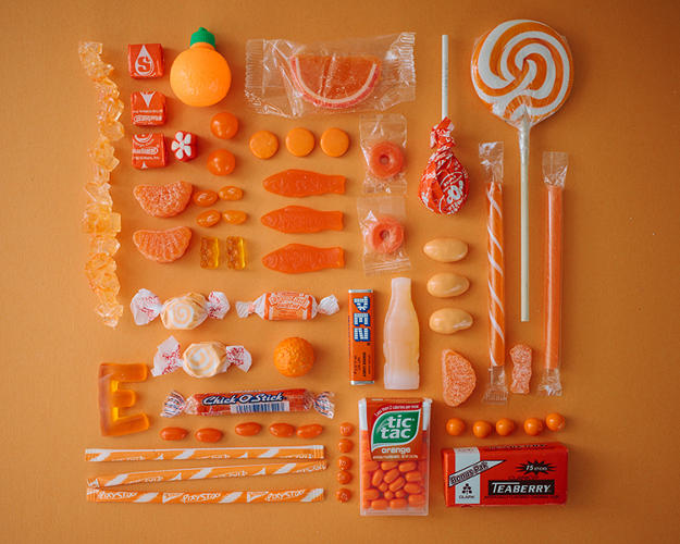 <p>Her &quot;Sugar Series&quot; consists of tasty compositions of chewy, hard, and lickable candies all organized neatly and by color.</p>