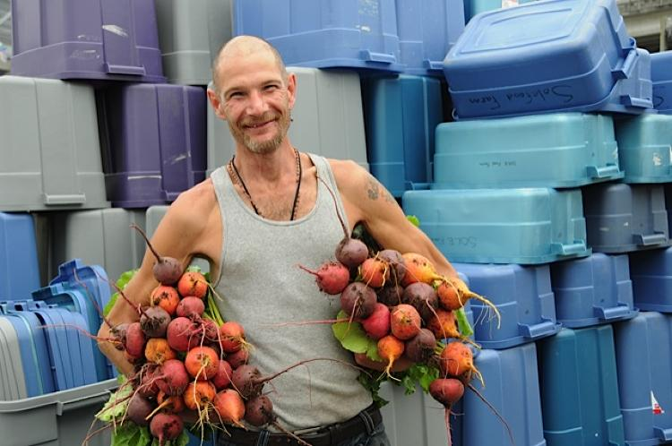 <p>Sole Food's latest addition is a one-acre orchard in Downtown Eastside, known as Canada's &quot;poorest postal code.&quot; Located on an old Petro-Canada gas station, the farm contains about 500 fruit trees in 800 large tubs.</p>