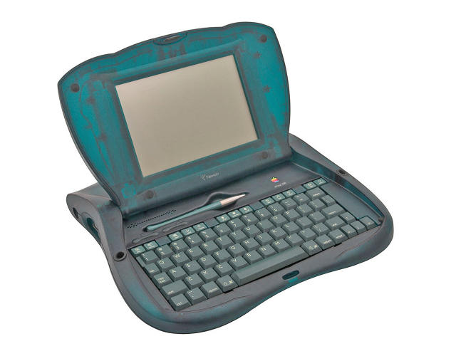 <p>Apple began designing the eMate, which was essentially a low-cost laptop designed for use in the classroom, in 1992. Introduced to the public in 1997, it was discontinued just a year later.</p>