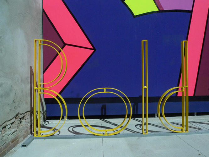 "<p>His latest rack, just unveiled in Brooklyn, is called ""Bold winK."" (Or at least it spells the phrase in yellow metal letters.)</p>"